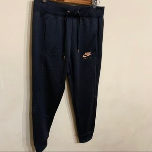 Nike Pants - NEW Nike Joggers w/ Rose Gold Logo - Sz M